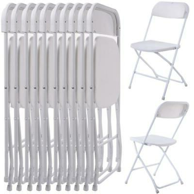 new commercial white plastic folding chairs stackable
