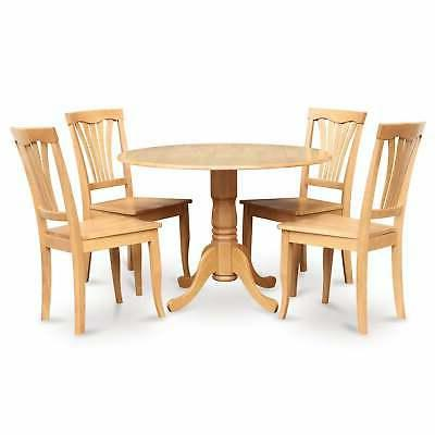 Oak Table and 4 5-piece Dining