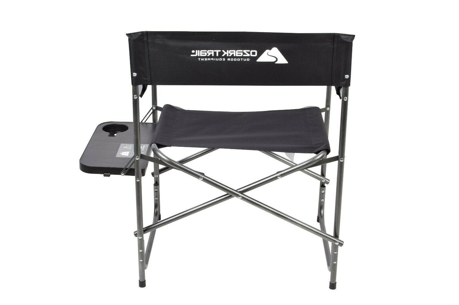 Outdoor Camping Folding Heavy Duty Chair Side Holder 400lbs