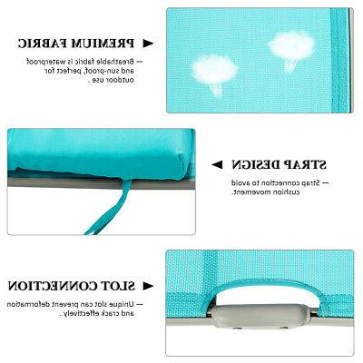 Outdoor Chaise Chair Lightweight Turquoise