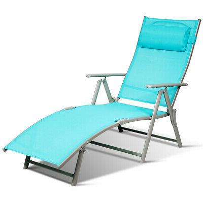 Outdoor Chaise Chair Turquoise