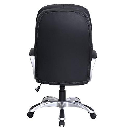 PU Leather Ergonomic Chair Office Task Computer Desk High Back