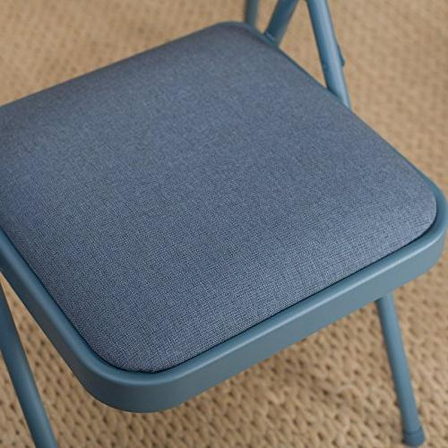 Meco Sudden Double Padded Chair Back- 5 Card Table Blue