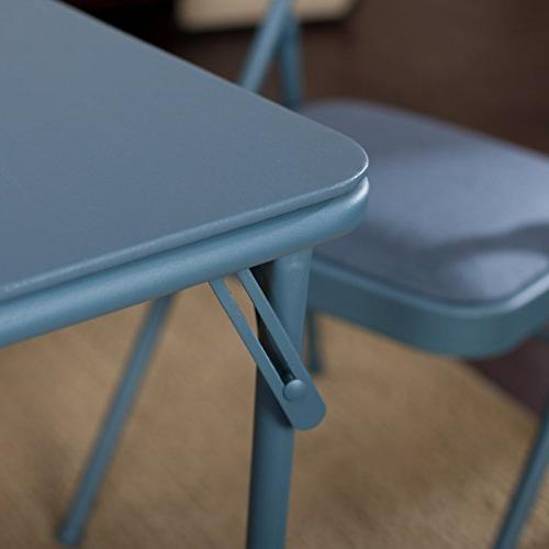 Meco Double Padded Back- 5 Table Cadet Blue