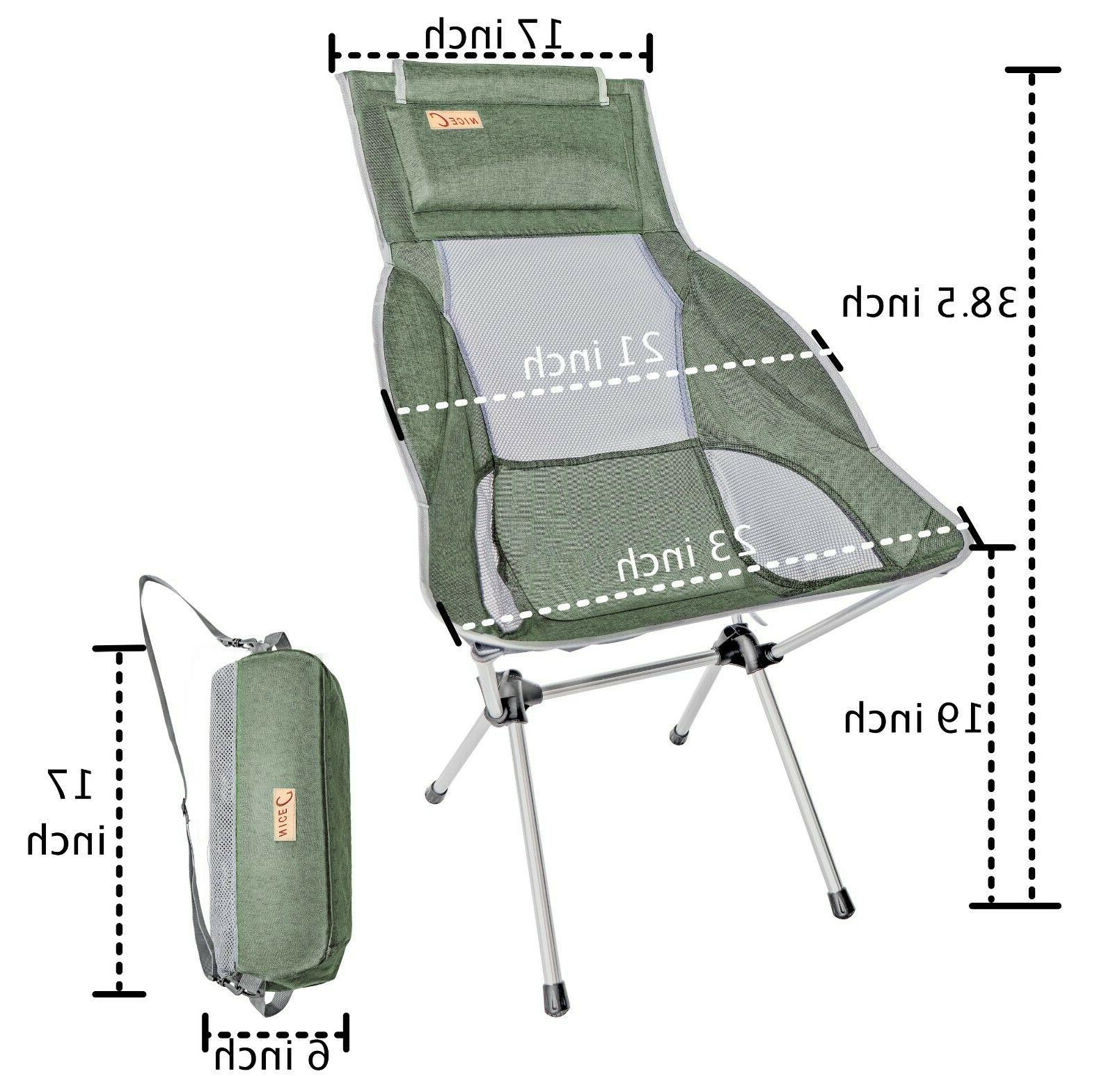 Ultralight High Back Folding Camping Chair Outdoor