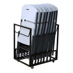 Lifetime Folding Chairs and Cart Combo 80389 8 Chairs 1 Cart