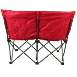 Camping Chair Loveseat Padded Folding Couple 2 Person Portab