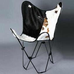 Made In Usa Folding Genuine Leather Butterfly Chair  Modern