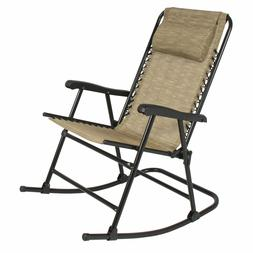 New Folding Rocking Chair Rocker Outdoor Patio Furniture Bei
