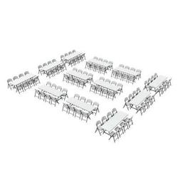 New Lifetime Folding Tables and Chairs 80543 96 Folding Chai