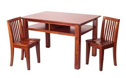Newton Kids and Table Chair Set in Mahogany Finish