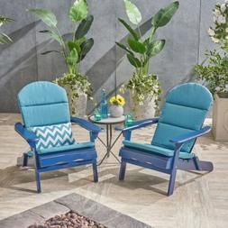 Ocean Outdoor Acacia Wood Adirondack Chairs with Cushions ,