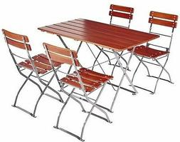 Outdoor Indoor Bistro, Folding Table and Chairs European Qua