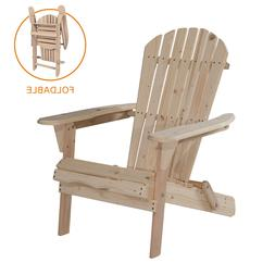 Outdoor Wood Adirondack Chair Garden Furniture Lawn Patio De