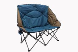 Ozark Trail Padded Loveseat Chair Folding Couple 2 Person Ca