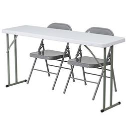 Flash Furniture 18'' x 60'' Plastic Folding Training Table S