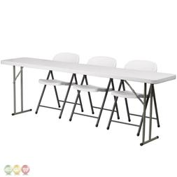 Flash Furniture Plastic Folding Training Table with 3 Plasti