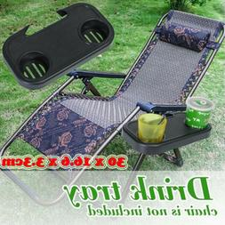 Portable Folding Chair Side Tray For Drink Camping Picnic Ou