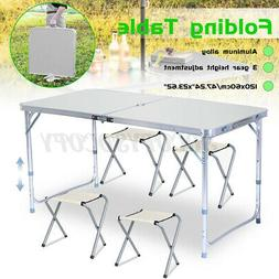 Portable Folding Table Desk & Chair Indoor Outdoor BBQ Hom