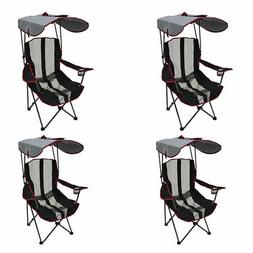 Kelsyus Premium Canopy Foldable Outdoor Lawn Chair with Cup