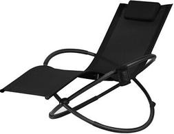 Zero Gravity Rocking Chair Lounge Folding Pillow Hang Rack P