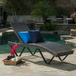 San Marco Outdoor Wicker Chaise Lounge by Christopher Knight