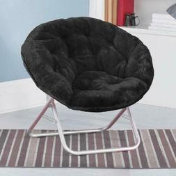 Saucer Chair Faux-Fur Kids New Living Room Bedroom Decor Sea