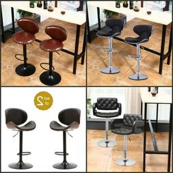 set of 2 leather adjustable high chair