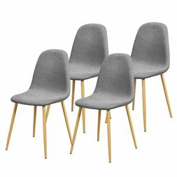 Giantex Set of 4 Kitchen Dining Chairs Soft Touch & Ergonomi