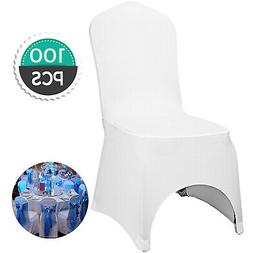 100pcs White Spandex Chair Covers For Wedding Banquet Party