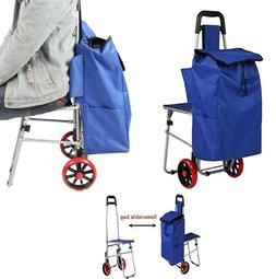 Shopping Cart Grocery Folding Cart With Wheels Portable Chai