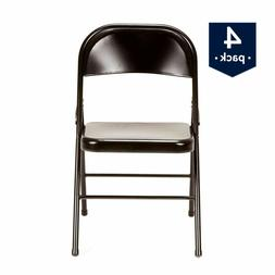 Mainstays Steel Folding Chair, Set of 4, Multiple Colors Tax