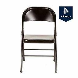 Folding Chair Stool Seat Portable Steel Light Cozy 4-Pack Ma