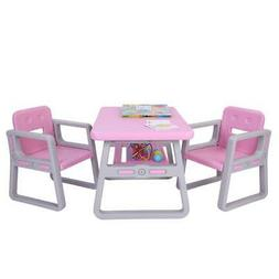 Study Play Table and Chair Set Generic 3 Piece Toddler Kids