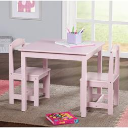 Study Small Table and Chair Set Generic 3 Piece Wood Toddler