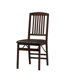 Triena Mission Back-Folding Chairs - Set of 2, Espresso