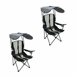 Kelsyus UPF Portable Camping Folding Lawn Chair with Canopy,
