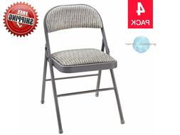 Meco Upholstered Folding Chair Stain-Resistant Fabric Commer