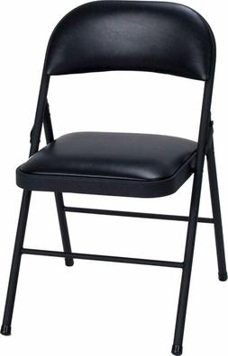 Cosco Vinyl Folding Chair Black